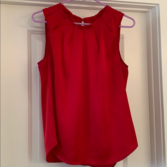 New York & Company Tops - NY&Co Red sleeveless blouse size M